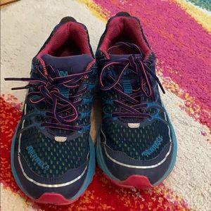 Merrell blue depths running shoes size 7